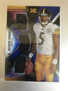R Joshua Dobbs Pittsburgh Steelers Panini XR 2017 Rookie QB Triple Patch SP /49