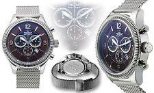 NEW Balmer 14037 Men's Swiss Chronograph Vanquish Luminious Rhonda Brown Watch