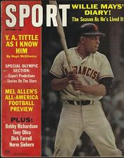 October 1964 Sport Magazine Willie Mays San Francisco Giants Roger Staubach Navy