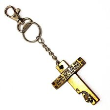 Schlüsselanhhänger Hosenkette Kreuz Anhänger Schlüsselring Karabiner Ring