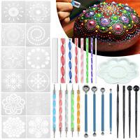 Mandala Dotting Art Dot Painting Tool Pen Stencil Template Brush Acrylic