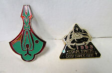 Star Trek Deep Space Nine Station 1993 Season and Cardassian Logo Cloisonne Pin
