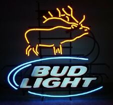 "New Bud Light Deer Bar Neon Light Sign 24""x20"""