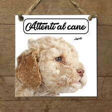 Lagotto romagnolo MOD 1 Attenti al cane Targa cane cartello PIASTRELLA