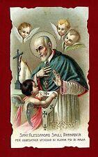 SANTINO S.ALESSANDRO SAULI BARNABITA   IMAGE PIEUSE - HOLY CARD-  Heiligenbild