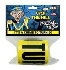 Over the Hill Party Tape - IT'S A CRIME TO TURN 50 - 100 Feet!