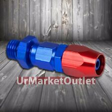 Red/Blue Straight Swivel Oil/Fuel/Fluid Line Hose End 4AN T1 Fitting Adapter