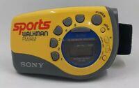SONY SRF-M78 Sports Walkman Armband Workout Jogging Radio  FM/AM Yellow