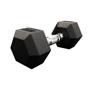 12.5KG Hex Dumbbell Rubber Home Training Gym Weight FREE POSTAGE