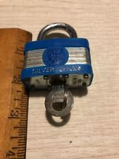 silver lynx padlock with one key