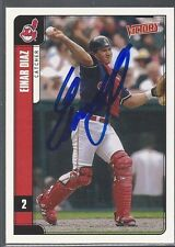 Cleveland Indians EINAR DIAZ Signed Card