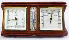 OROLOGIO BAROMETRO TERMOMETRO VINTAGE DA VIAGGIO Clock Barometer Thermometer