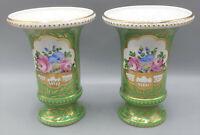 Handbemaltes, äußerst dekoratives Vasenpaar Porzellan, Potschappel Dresden