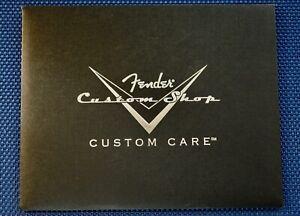 USA Fender Custom Shop Custom Care Booklet MANUALS + TAGS Guitar Tags American