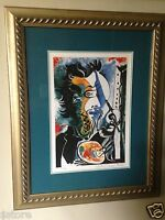 """THE ARTIST"" Lithograph Limited Edition Collection Domaine PICASSO Nicely framed"