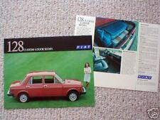 1975 FIAT 128 CUSTOM 4 Door Sedan Car Brochure/Flyer