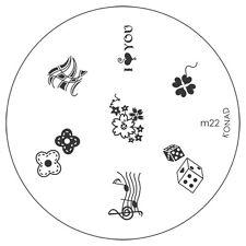 Konad stamping galería de símbolos m22 plate Nails Nail Art Stamp