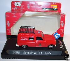 SOLIDO RENAULT 4 R4 4L F4 1975 SAPEURS POMPIERS REF 4808 1/43 IN BOX