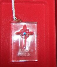 Lenox Ornament German Crystal Bible Blue Gem NIB