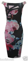 Ladies Womens Off Shoulder Celebrity Jessica Wright Bodycon Midi Dress UK 8-14