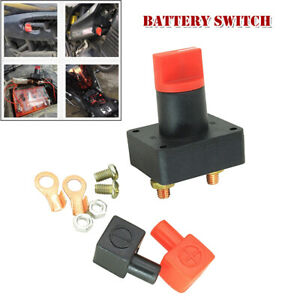 Battery Switch Car Van Boat Power Disconnect On Off Rotary Isolator DC 60V 300A
