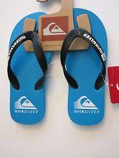 NWT Quiksilver Boy's 11 Java Action Blue Black Sandals Flip Flops Shoes Thongs
