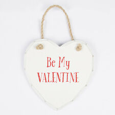 Sass & Belle Be My Valentine Love Heart Hanging Decoration Shabby Chic Sign Gift