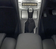 Black Leather Gear Shift Gaiter Cover Sleeve fit Toyota Avensis II 2003-2006