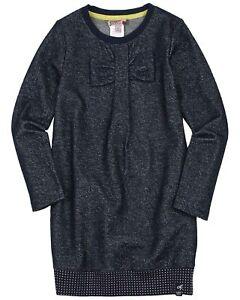 BOBOLI Girl's Shiny Sweatshirt Dress with Bow, Sizes 4-16