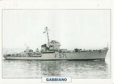PHOTO BATEAU MILITAIRE CORVETTE GABBIANO ITALIE 1942