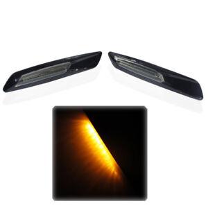 For BMW 1 3 5 Series Pair Amber 18LED Fender Side Marker Turn Signal Light Lamp