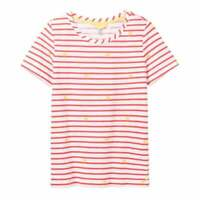Joules Carley Print Classic Crew Neck Top (Sunny Stripe)