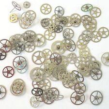 100 Silver Watch Wheels Altered Art Part Gear Steampunk Vtg Watchmaker Lot Shiny