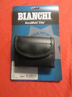 Bianchi 22961 AccuMold Elite Flat Latex Glove Pouch Plain Black Leather