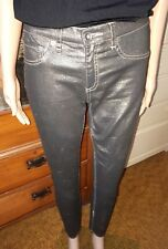 Seed heritage stretch skinny gold jeans size 8