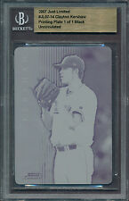 2007 Just Ltd.Gold CLAYTON KERSHAW 1-of-1 ROOKIE Black Plate 1/1 [BBE]
