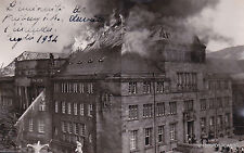 * GERMANY - Freiburg i.b.- The university during the fire 1934 Photopostcard