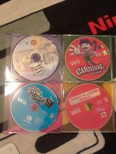 Nintendo Wii lot of 4 party games w/ Hasbro Family Game Night 3. Works!