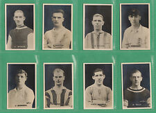 D. C. THOMSON & CO.  LTD. - RARE SET OF M18 ENGLISH FOOTBALLERS CARDS  -  1921