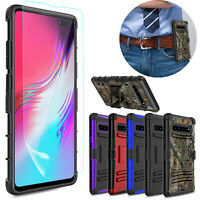 For Samsung Galaxy S10 5G Case Shockproof Hybrid Hard Cover/9H Screen Protector