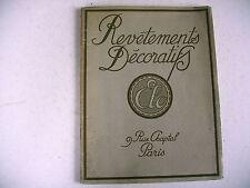 catalogue REVETEMENTS DECORATIFS début 1900 frise lambris panneau meuble etc