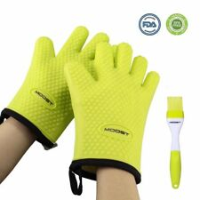 New listing Moost Silicone Cooking Gloves – Heat Resistant Oven Mitts + Free Premium Brush