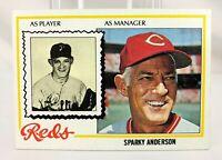 1978 Topps SPARKY ANDERSON Cincinnati Reds Baseball Card #401