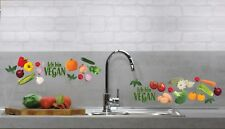 Aufkleber Sticker Wandaufkleber Wandsticker Dekor Gemüse Vegan Grün Küche Möbel