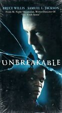Unbreakable (Vhs, 2001, Bruce Willis, Samuel Jackson) [New, Sealed]