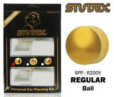 Studex Personal Ear Piercing Kit with Pre Loaded Gold Plated Piercing Studs