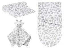 Newborn Baby Giraffe Comforter Toy Snuggle Blanket Swaddle Sack 3 Piece Gift Set