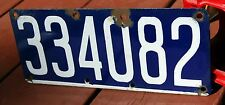 BELGIUM - 1926 series motorcycle license plate - nice porcelain, all original