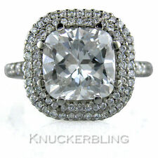 Cushion Platinum Engagement VS2 Fine Diamond Rings