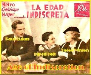 Age of Indiscretion - 1935 - Paul Lukas Madge Evans Ludwig Vintage Drama DVD